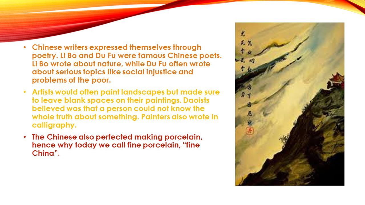 Chinese writers expressed themselves through poetry