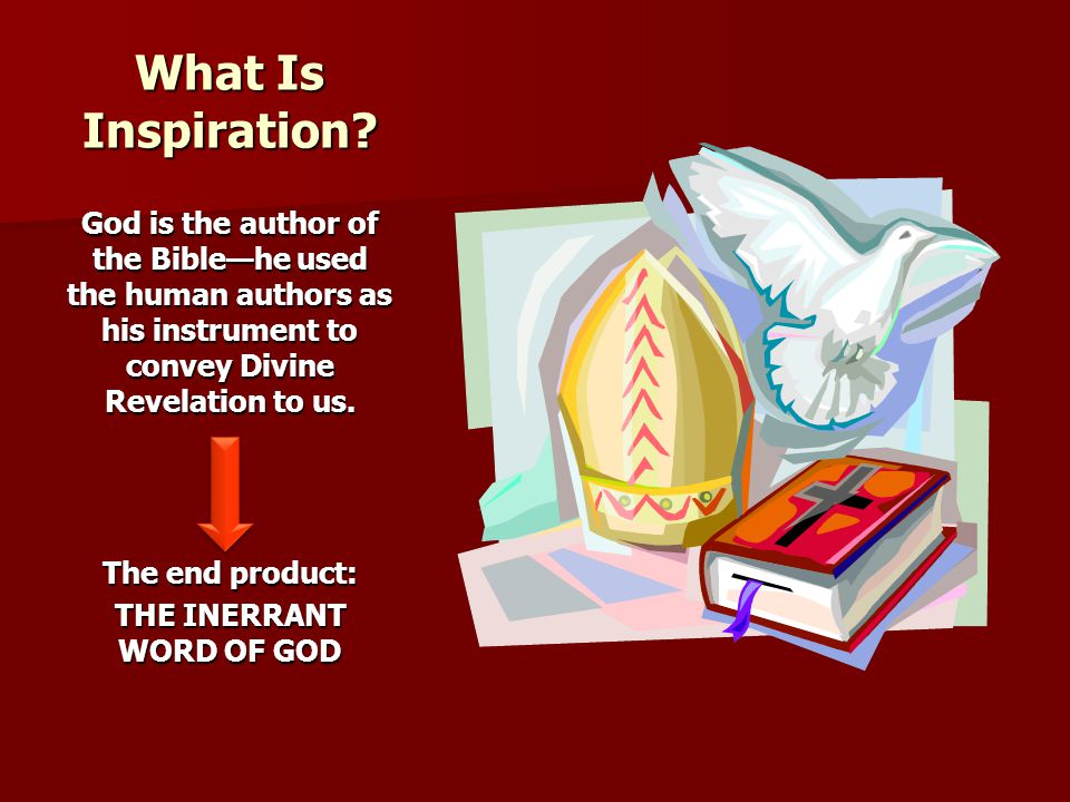 THE INERRANT WORD OF GOD