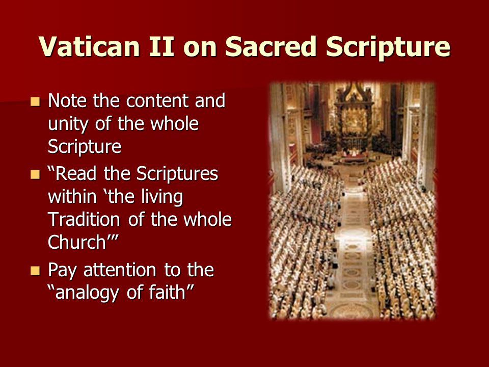 Vatican II on Sacred Scripture