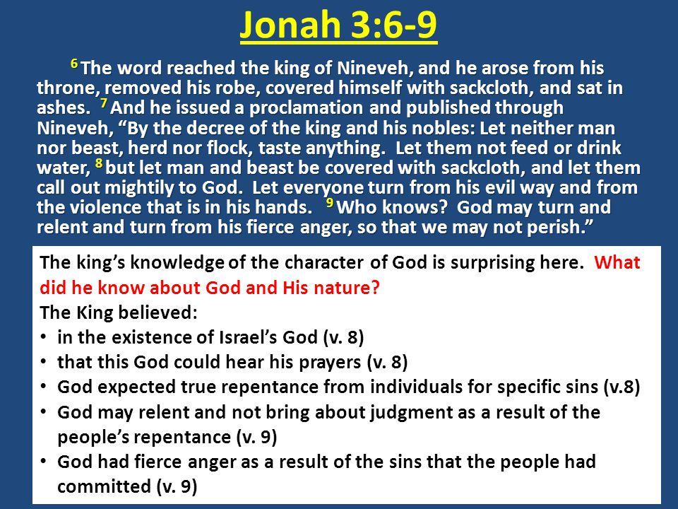 Jonah 3:6-9