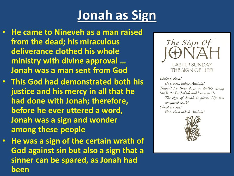 Jonah as Sign