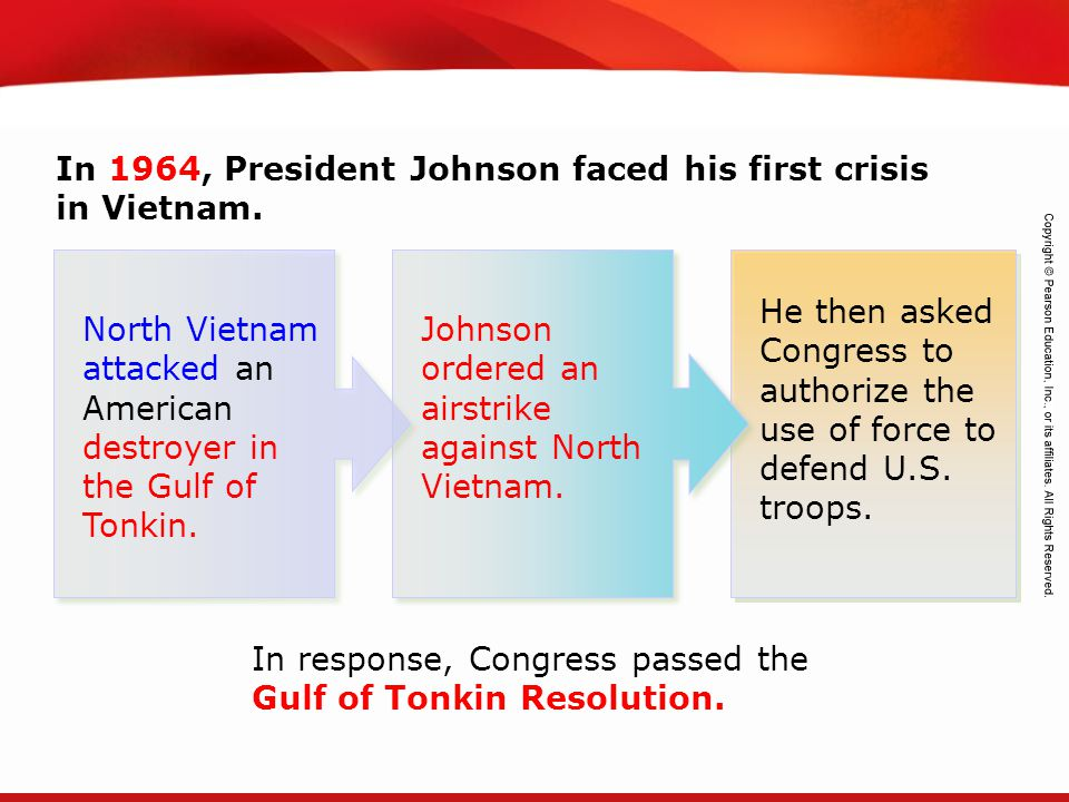 In 1964, President Johnson faced his first crisis