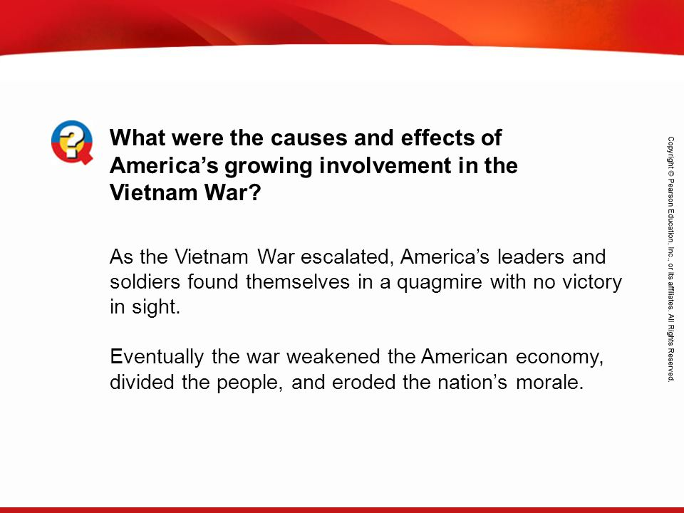 What were the causes and effects of America's growing involvement in the Vietnam War