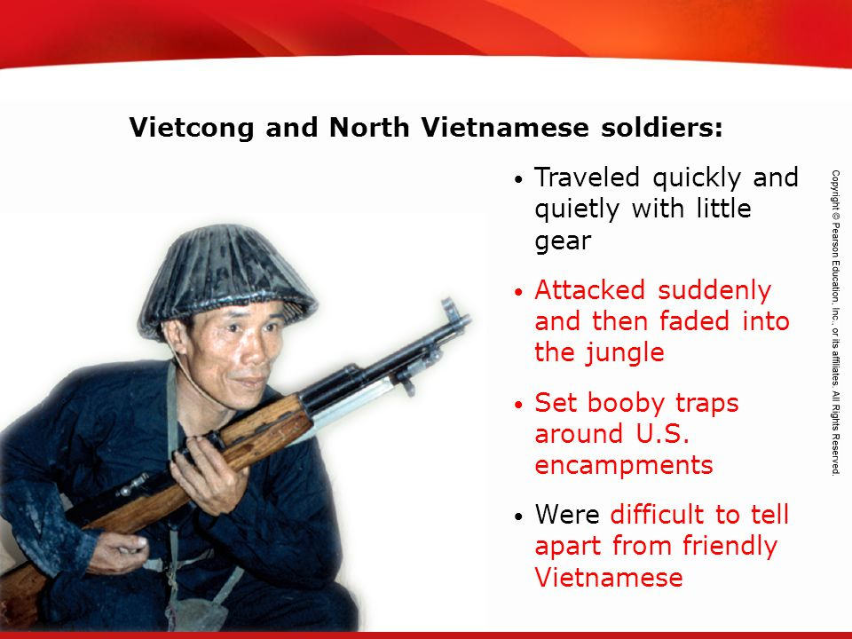 Vietcong and North Vietnamese soldiers: