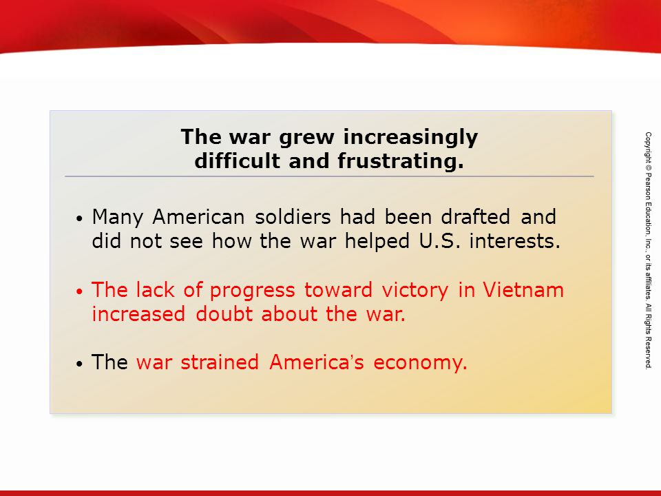 The war grew increasingly difficult and frustrating.
