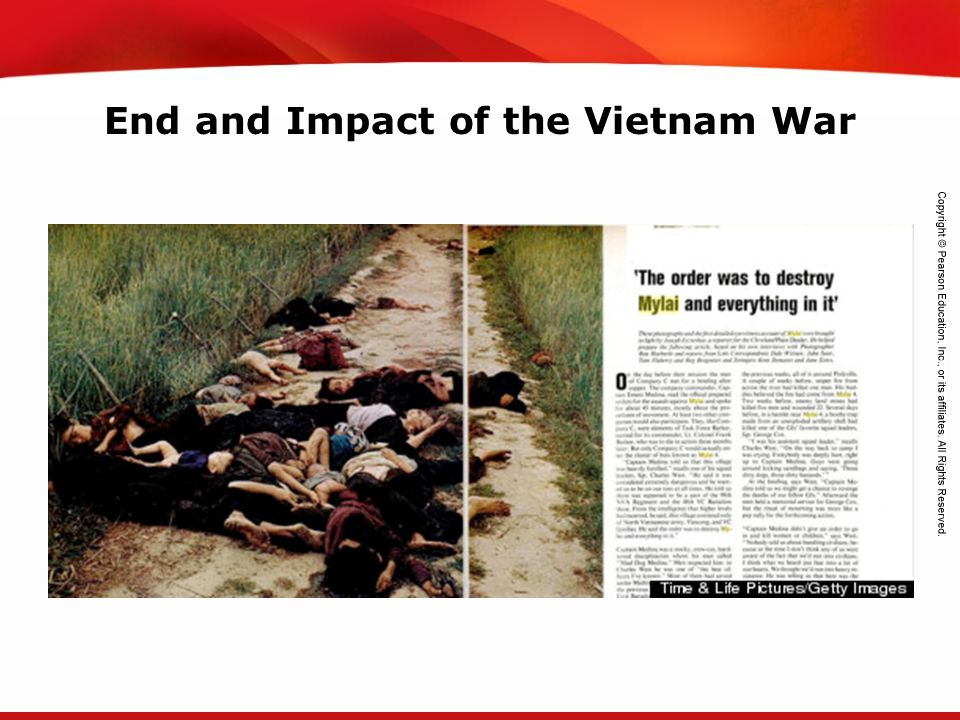 End and Impact of the Vietnam War