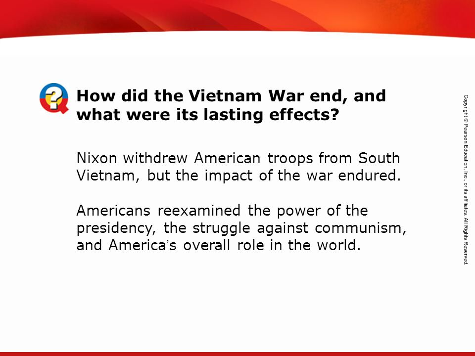 How did the Vietnam War end, and what were its lasting effects