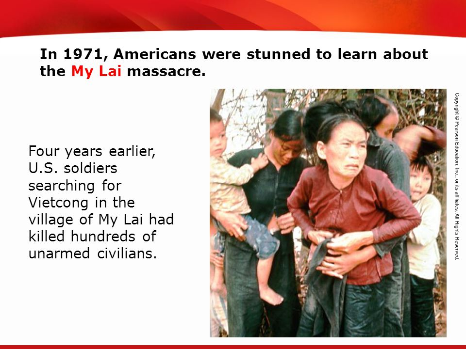 In 1971, Americans were stunned to learn about the My Lai massacre.