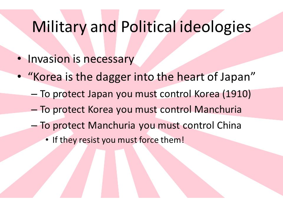 Military and Political ideologies