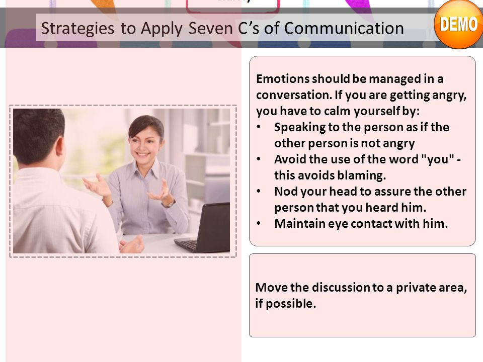 Strategies to Apply Seven C's of Communication