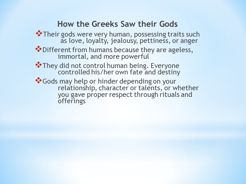 How the Greeks Saw their Gods