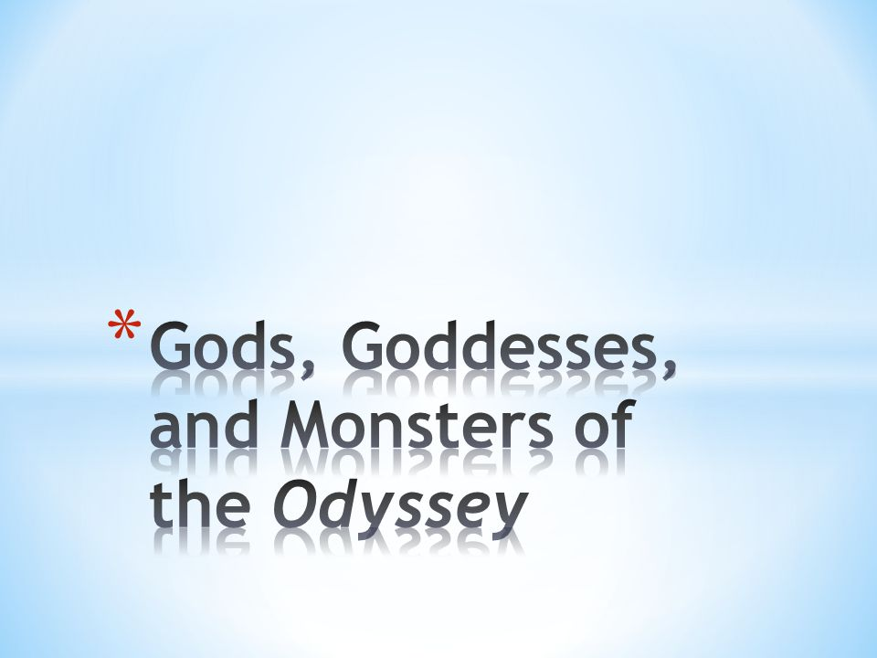 Gods, Goddesses, and Monsters of the Odyssey