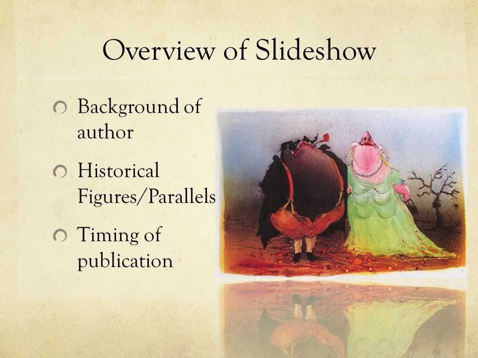 Overview of Slideshow Background of author
