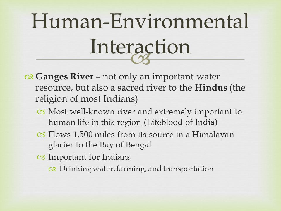 Human-Environmental Interaction