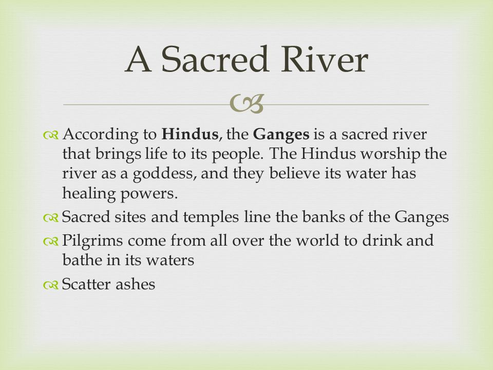 A Sacred River