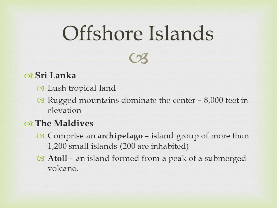 Offshore Islands Sri Lanka The Maldives Lush tropical land