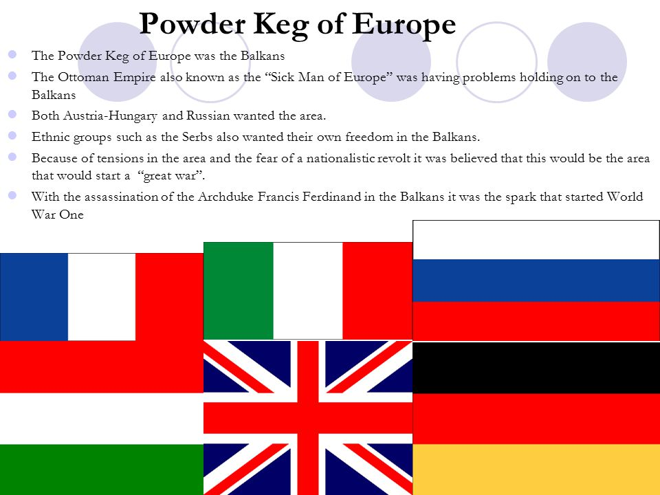 Powder Keg of Europe The Powder Keg of Europe was the Balkans