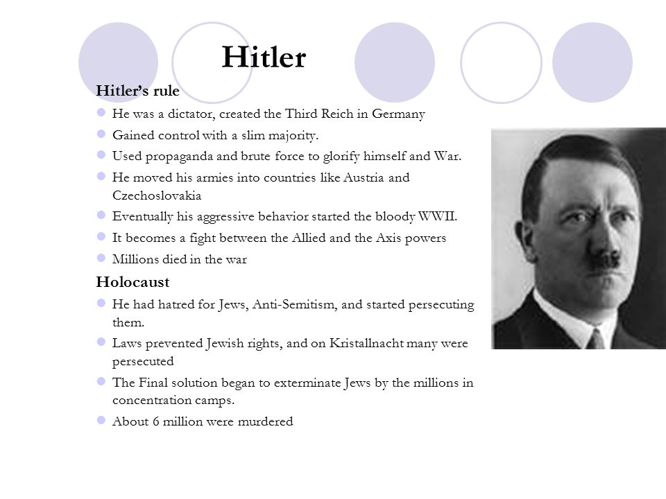 Hitler Hitler's rule Holocaust