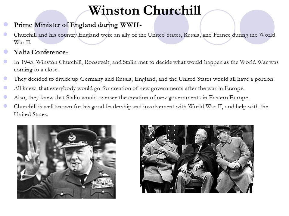 Winston Churchill Prime Minister of England during WWII-