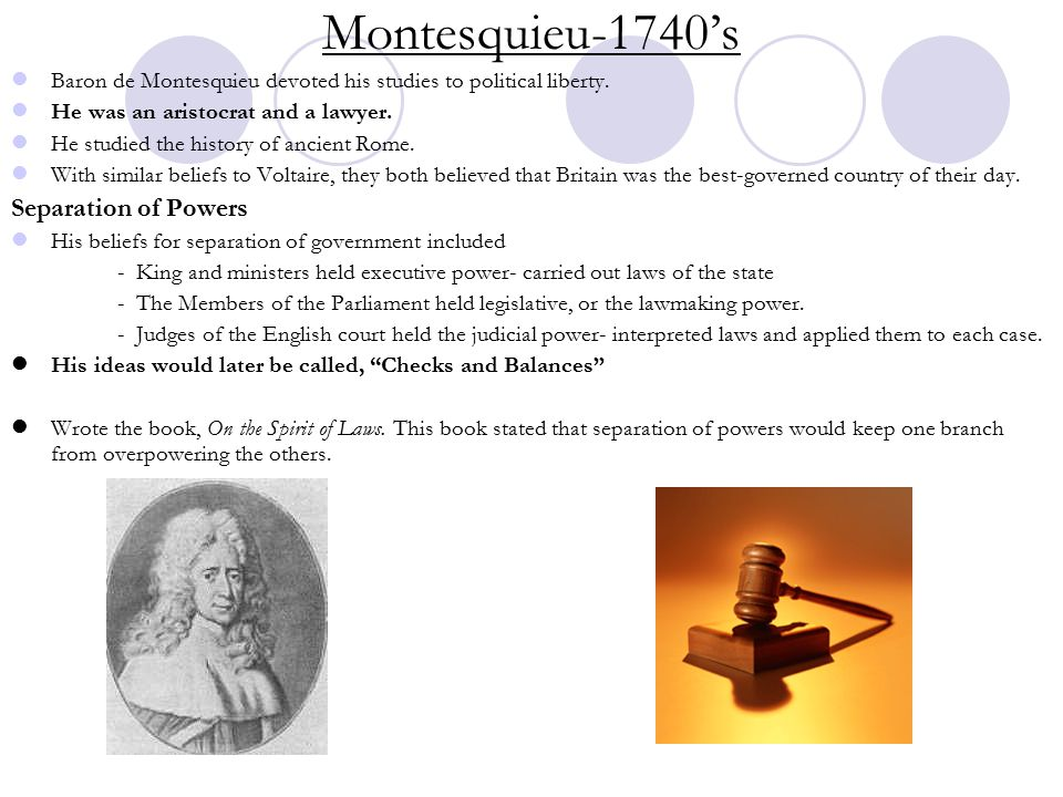 Montesquieu-1740's Separation of Powers