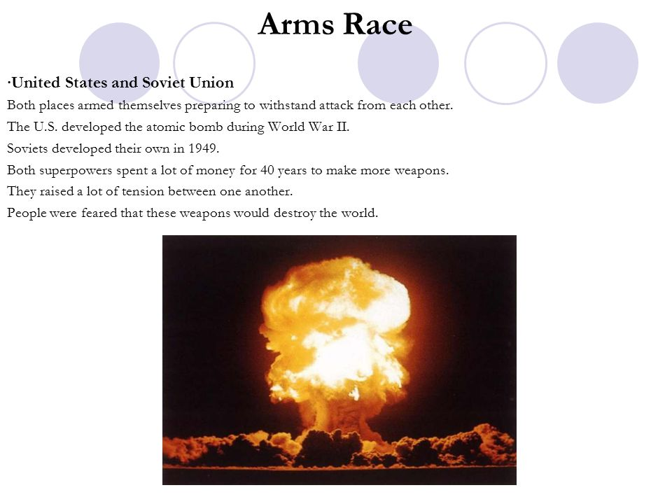 Arms Race ∙United States and Soviet Union