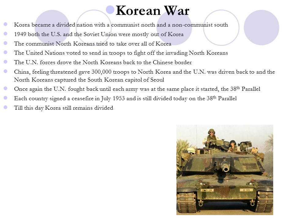 Korean War Korea became a divided nation with a communist north and a non-communist south.