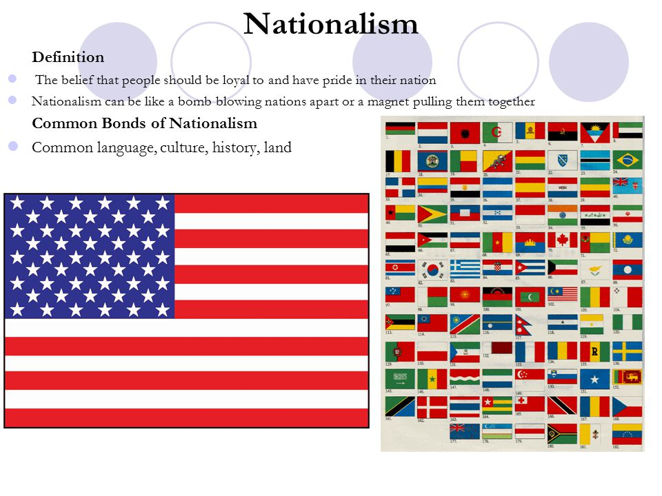 Nationalism Definition Common Bonds of Nationalism