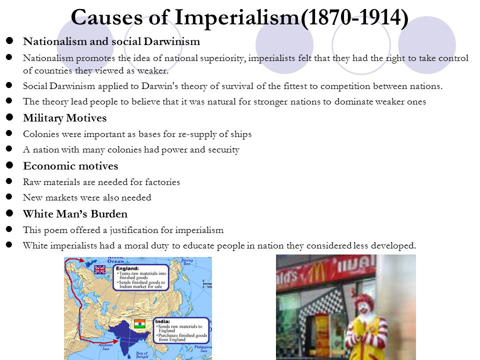 Causes of Imperialism(1870-1914)