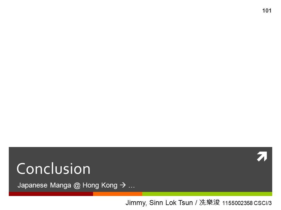 Conclusion Japanese Manga @ Hong Kong  …