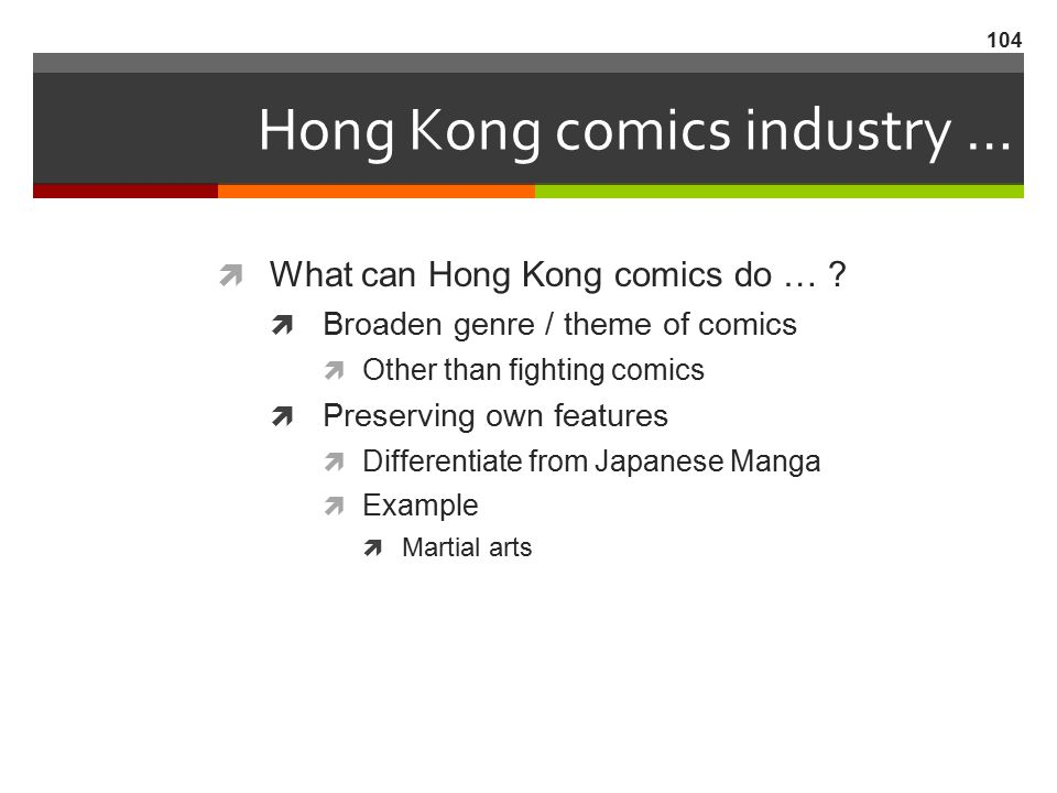 Hong Kong comics industry …
