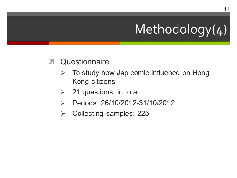 Methodology(4) Questionnaire