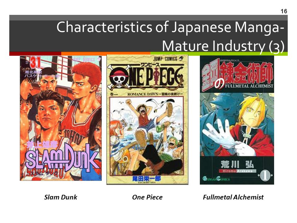 Characteristics of Japanese Manga- Mature Industry (3)