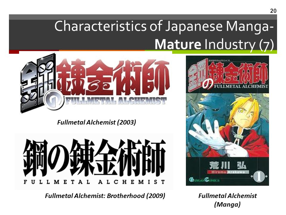 Characteristics of Japanese Manga- Mature Industry (7)