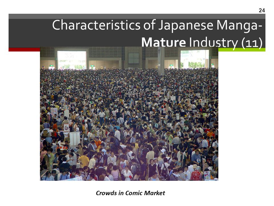 Characteristics of Japanese Manga- Mature Industry (11)