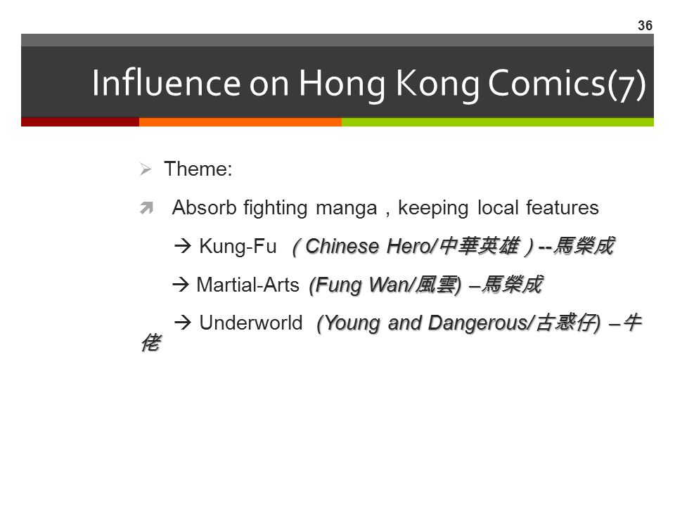 Influence on Hong Kong Comics(7)