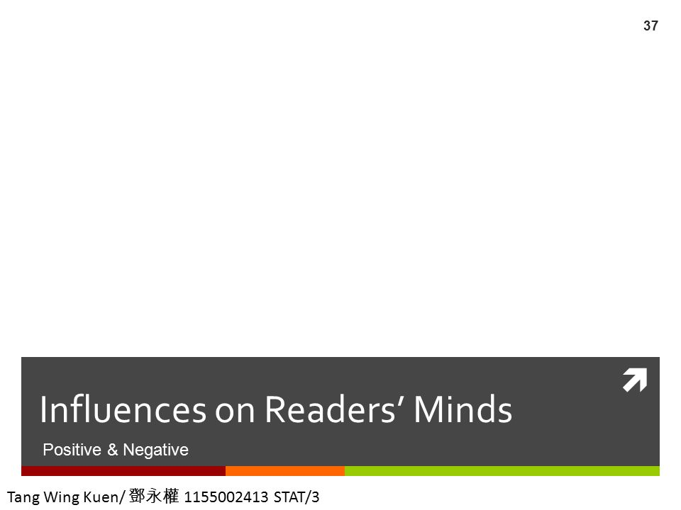 Influences on Readers' Minds