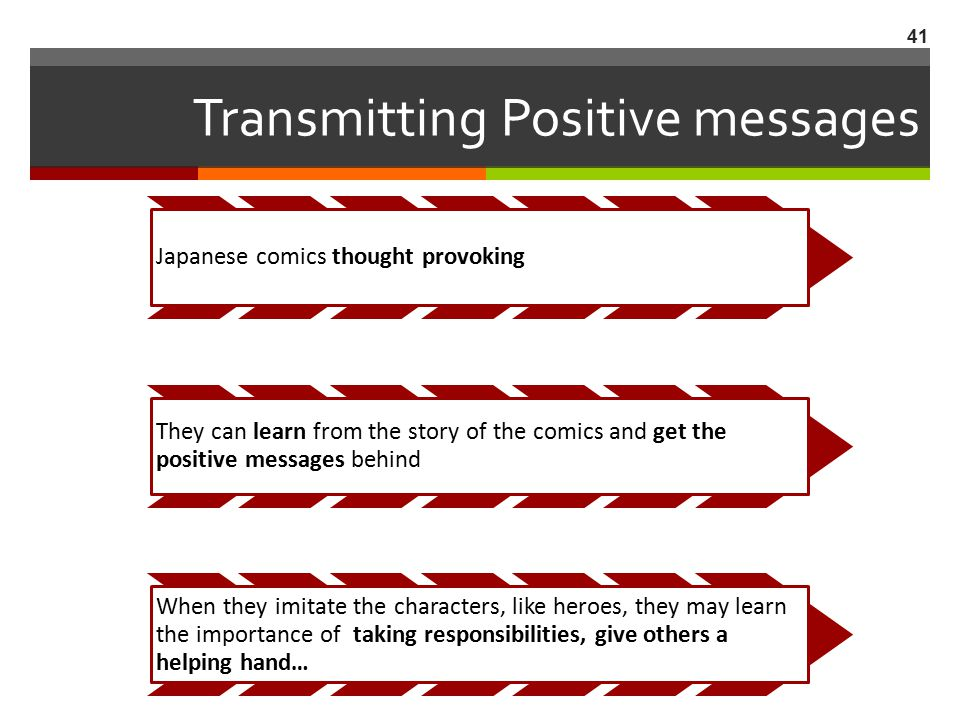 Transmitting Positive messages