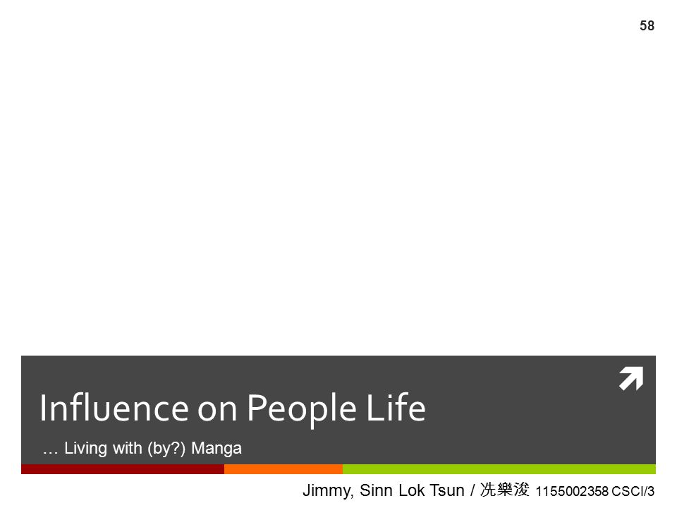 Influence on People Life