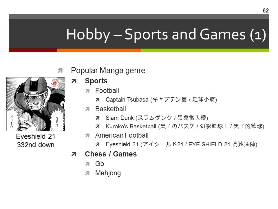 Hobby – Sports and Games (1)