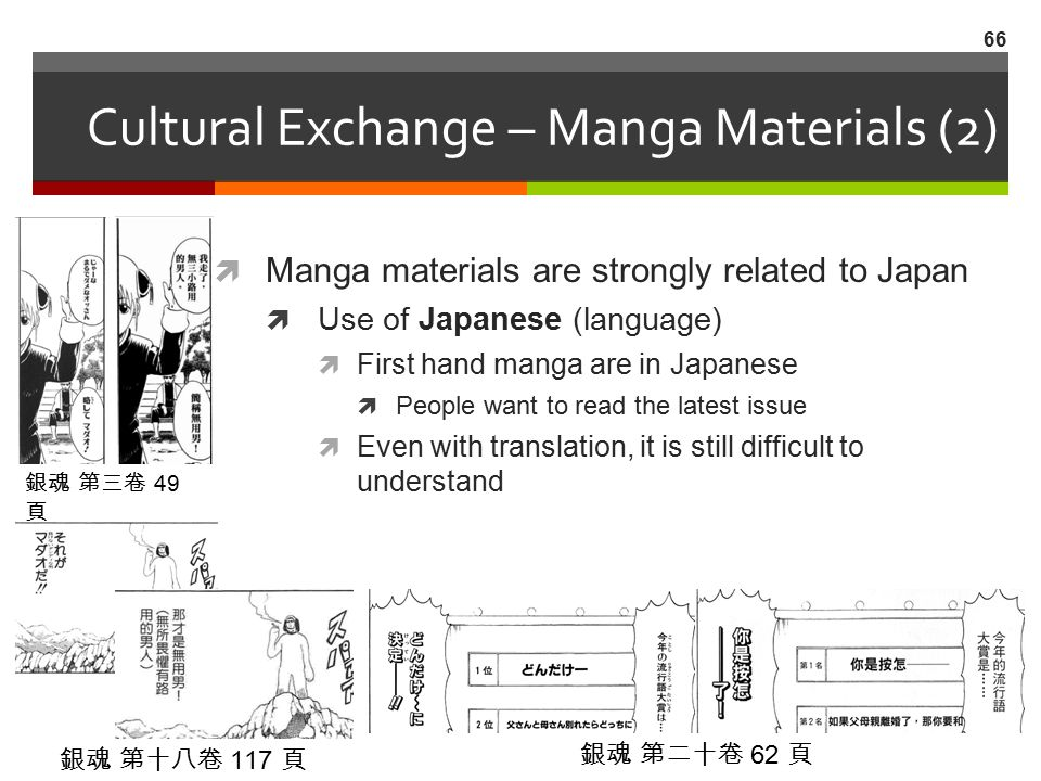 Cultural Exchange – Manga Materials (2)