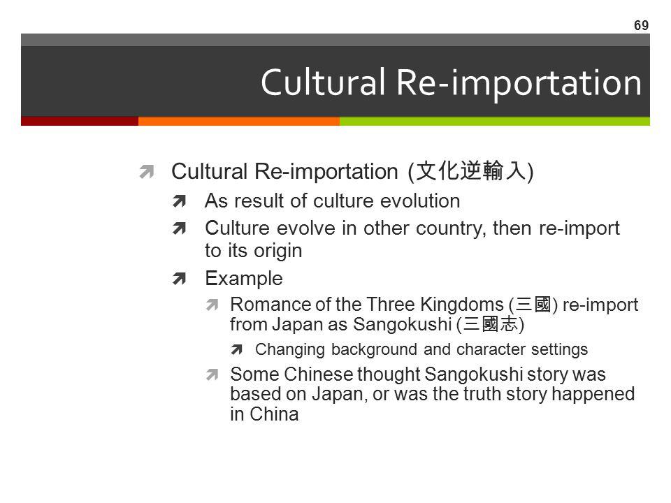 Cultural Re-importation