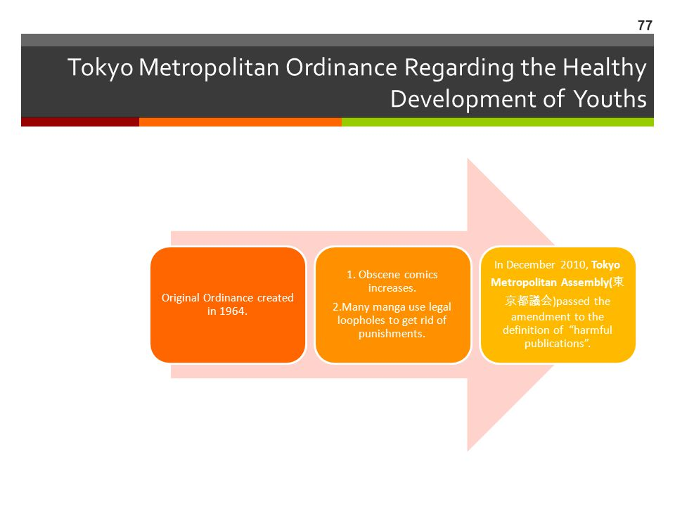 Tokyo Metropolitan Ordinance Regarding the Healthy Development of Youths