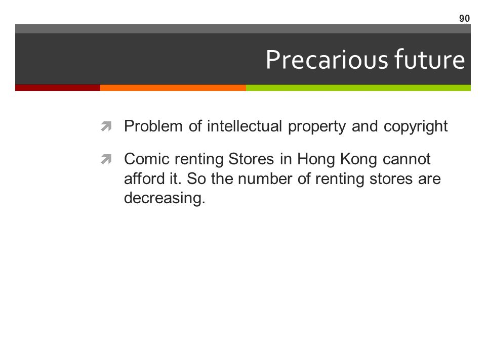 Precarious future Problem of intellectual property and copyright