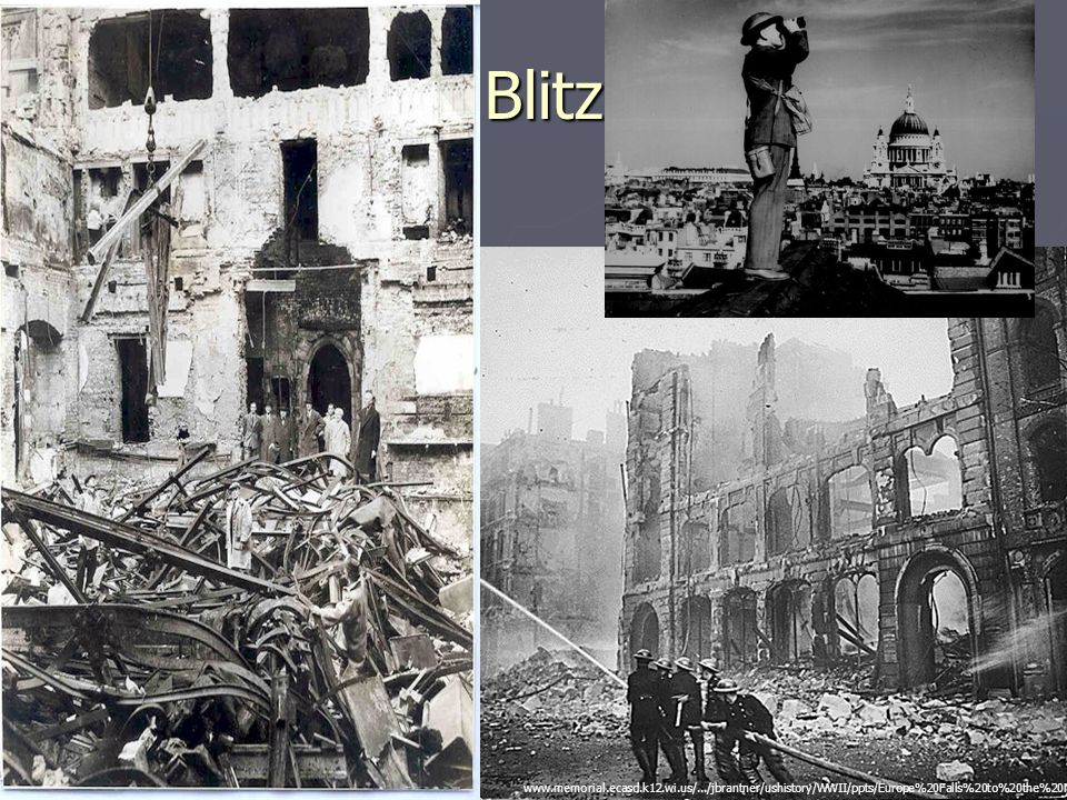 Blitz www.memorial.ecasd.k12.wi.us/.../jbrantner/ushistory/WWII/ppts/Europe%20Falls%20to%20the%20Nazis.ppt.