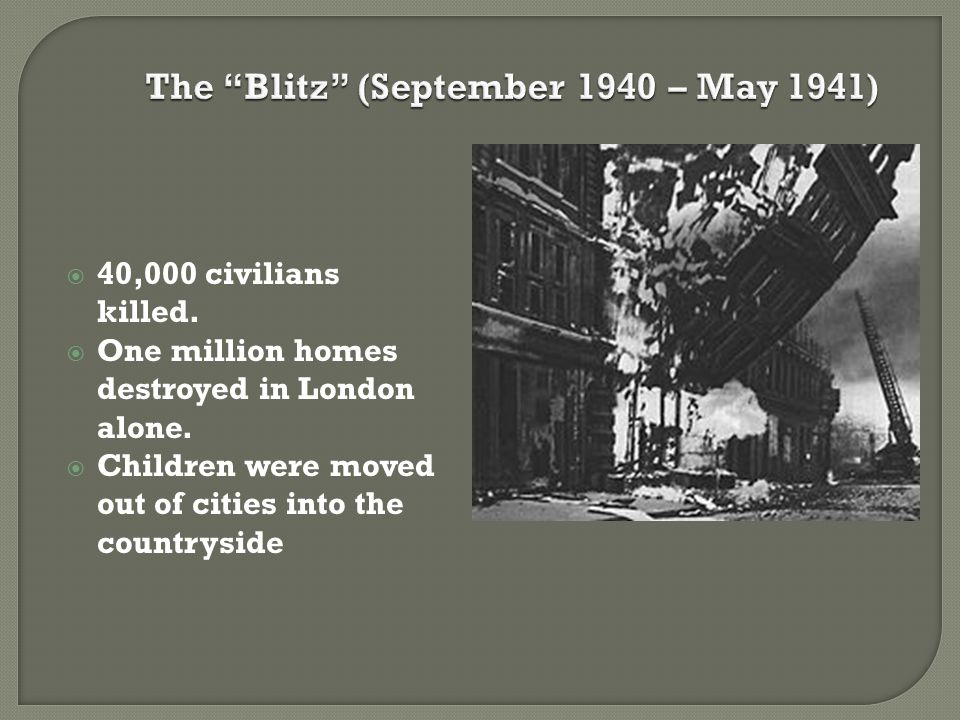 The Blitz (September 1940 – May 1941)
