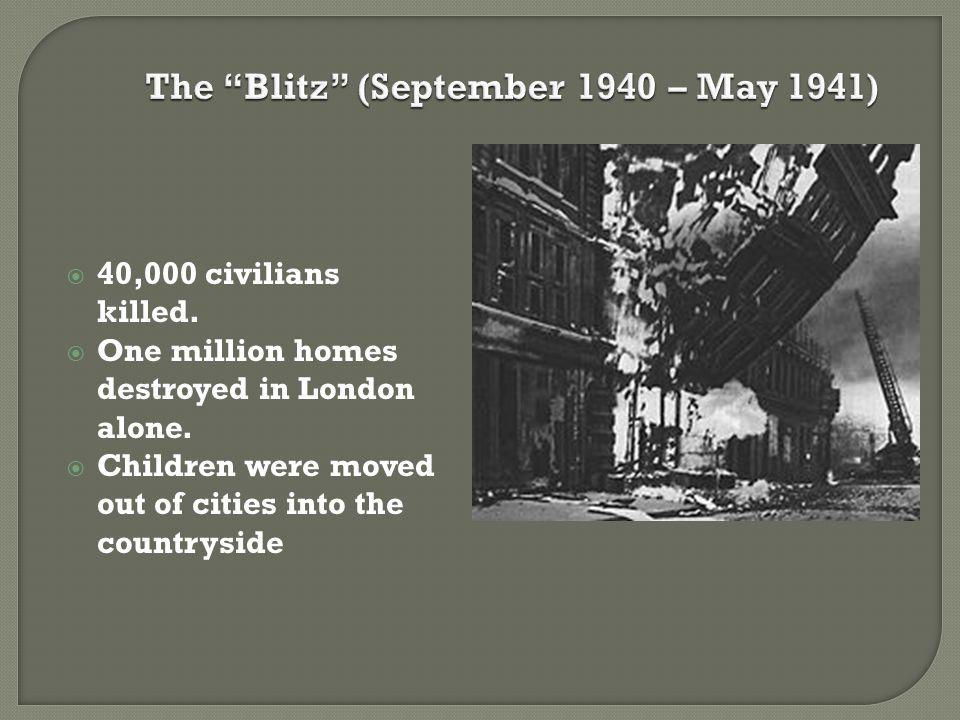 The Blitz (September 1940 – May 1941)