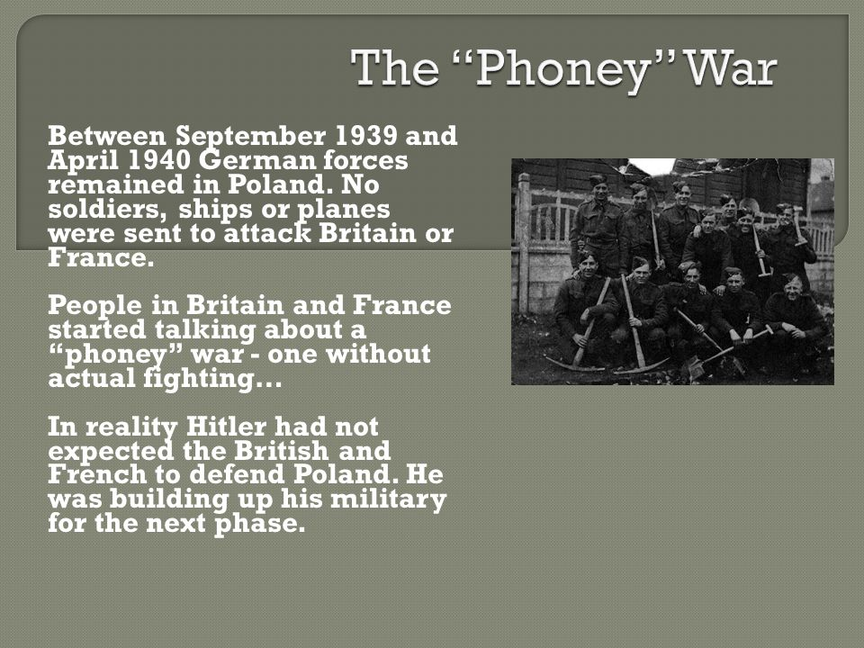 The Phoney War