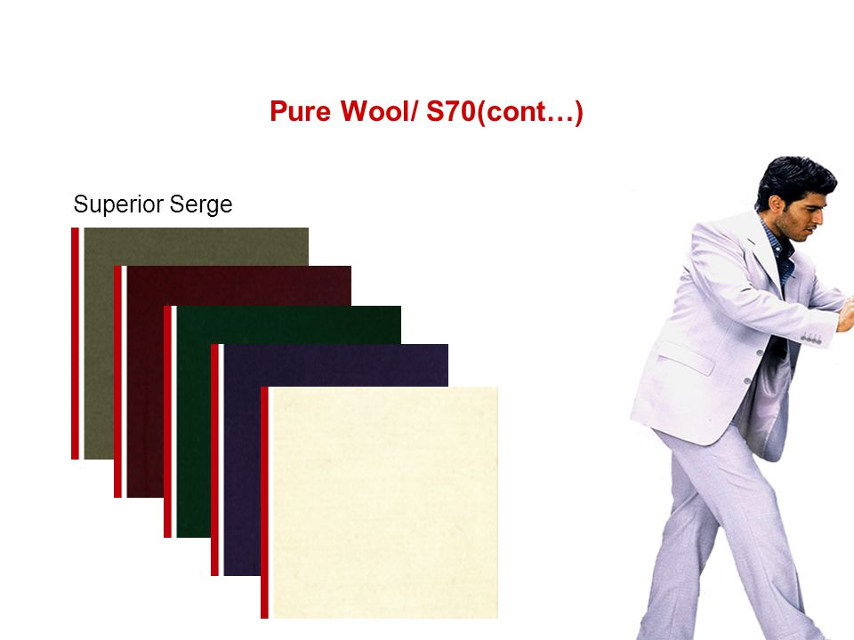 Pure Wool/ S70(cont…) Superior Serge