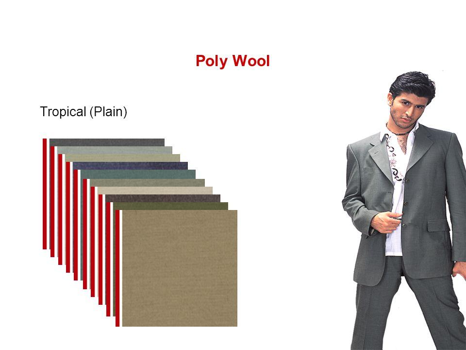 Poly Wool Tropical (Plain)