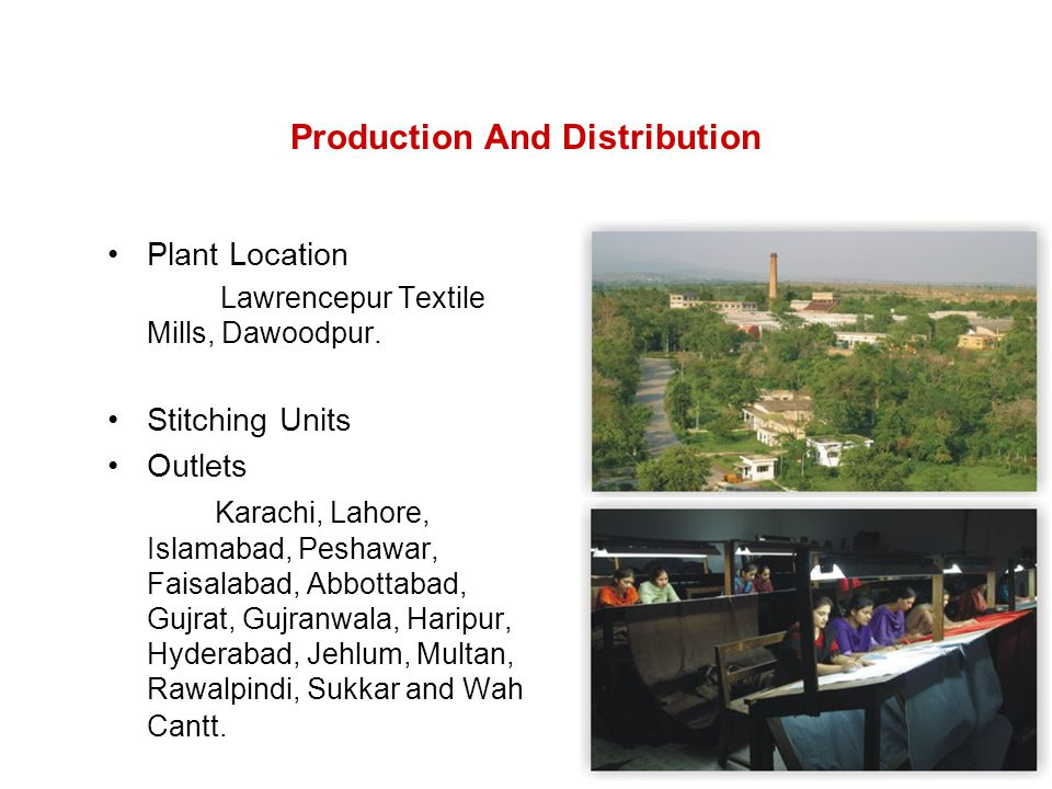 Production And Distribution